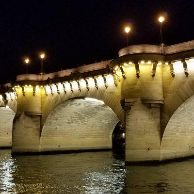 The Pont Neuf after dusk.